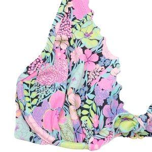 Victoria's Secret Swim - Victoria's Secret Ruffle Floral Halter Bikini 32E